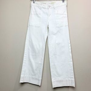 Anthro Pilcro and Letterpress White Jeans 26